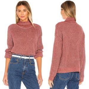 TULAROSA Aubrey Turtleneck Sweater in Tibetan Rose